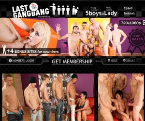 Mature Gang Bang - 5 boys VS Mature Lady