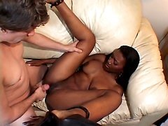 Ebony Housewife Interracial Banging