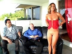 Wife Ginger Outdoor Stripping