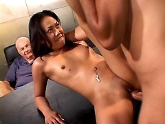 Sexy Asian Wife Cock Plugged