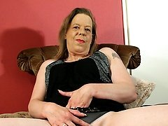 Mature housewife playing with herself