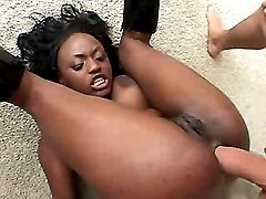 Wild black mature in porn action