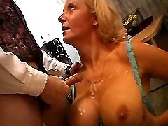 Busty milf likes to get fresh juice