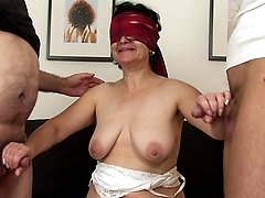 Young cock for mature pussy on birthday