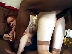 Redhead milf blows n gets banged