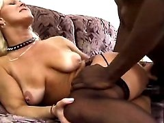 Blackie bangs mature maid
