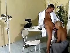 Old slut seduces her young doctor