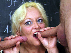 Horny sex in her classroom