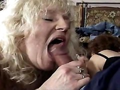 Three matures suck and fuck in orgy