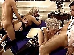 Old prostitutes have fun in orgy