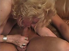 Two moms get fucked by dildo n suck dicks in orgy
