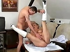 Nurse granny gets cumload in mouth